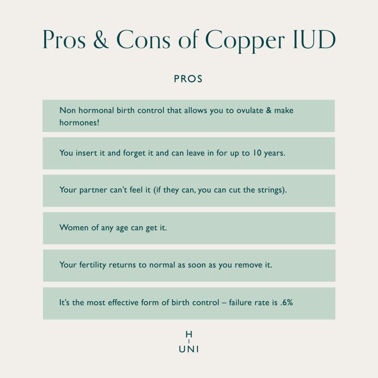 Pros of Copper IUD