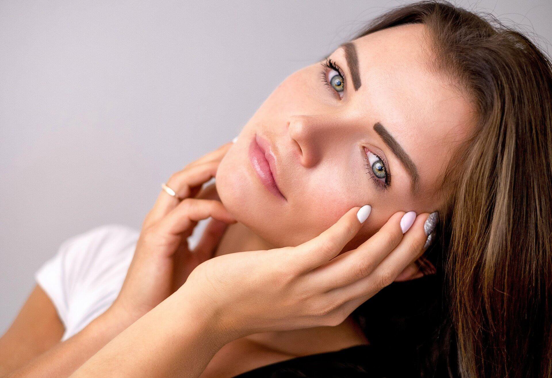 Healthy skin of woman