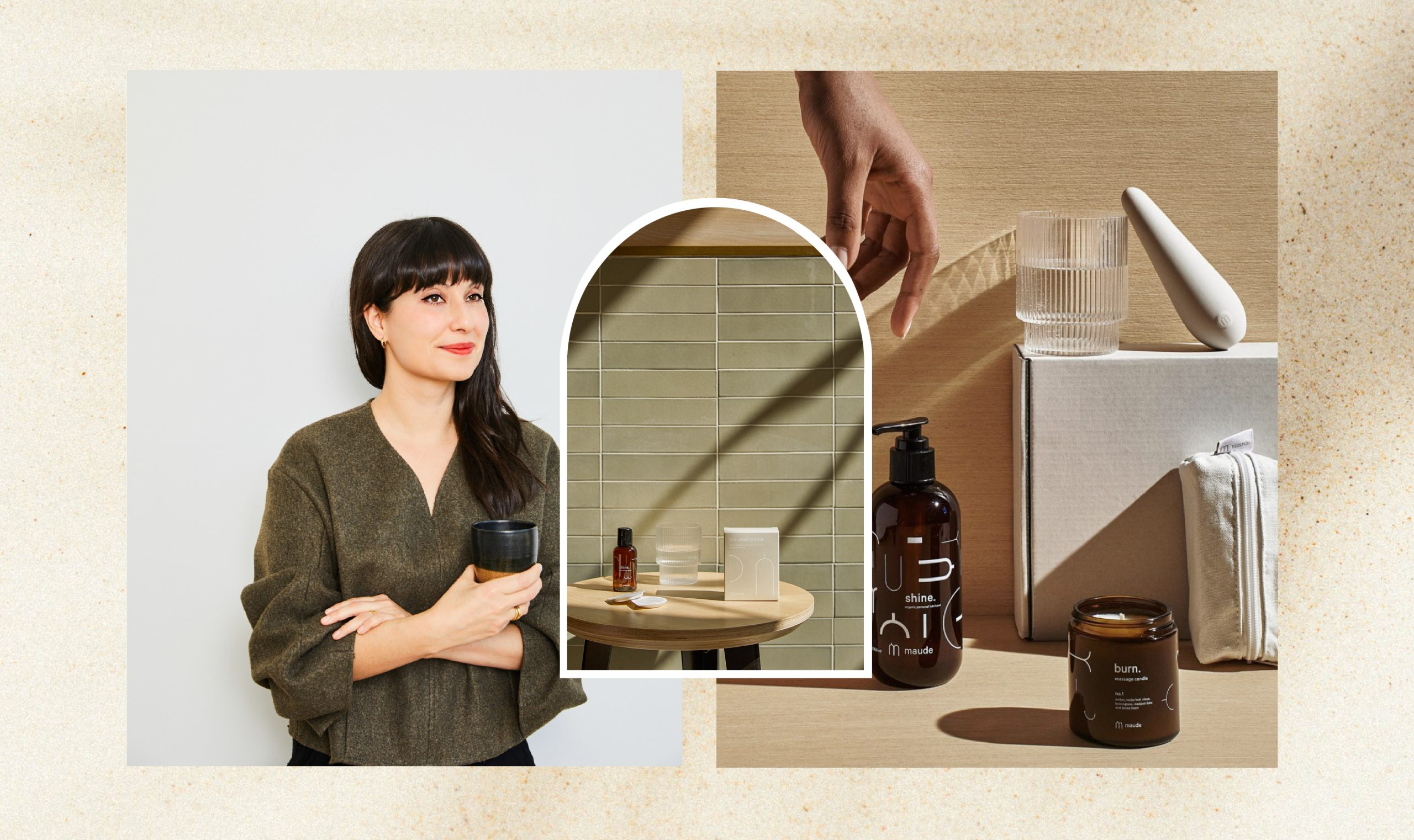 Eva Goicochea and beauty products