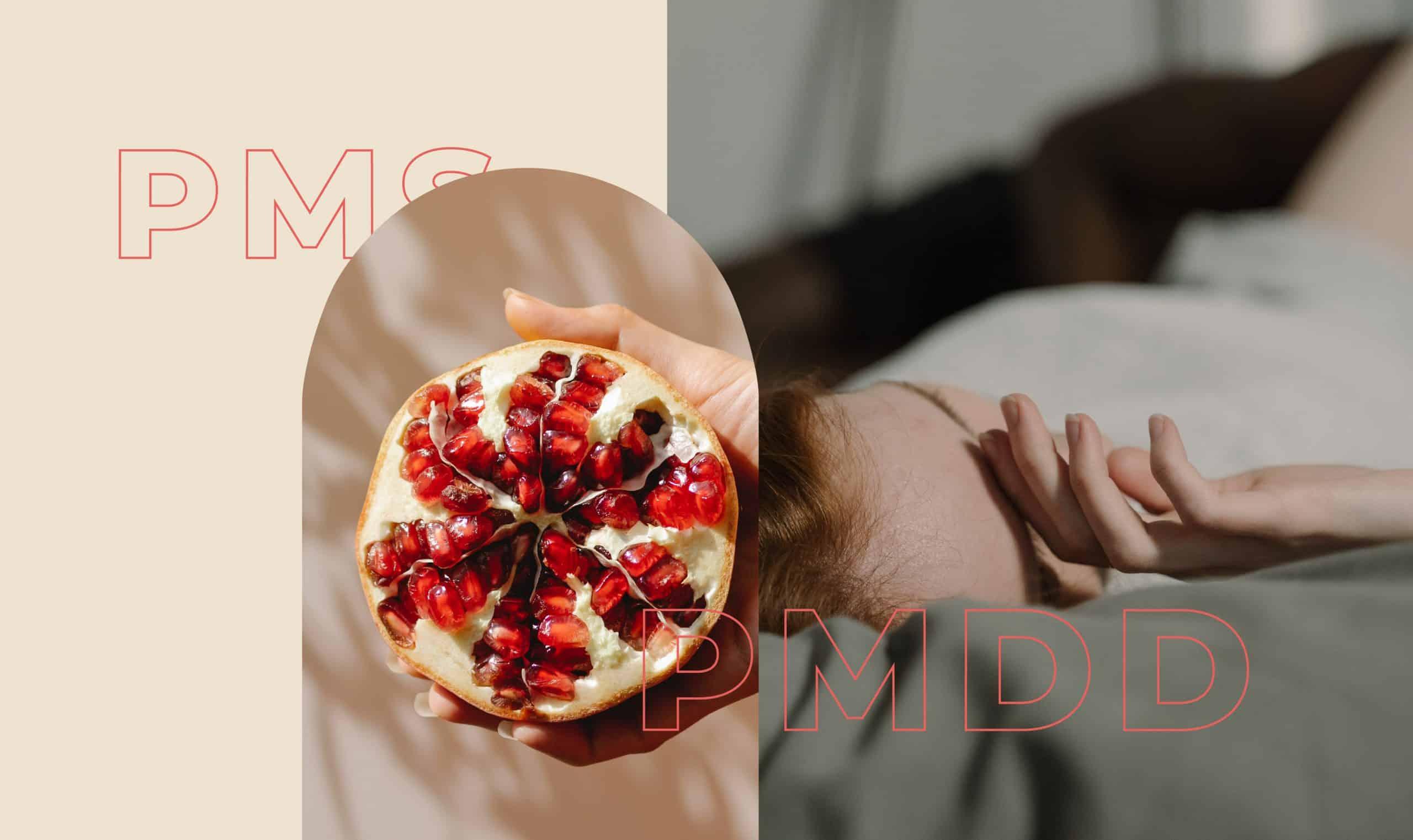 A piece of pomegranate fruit