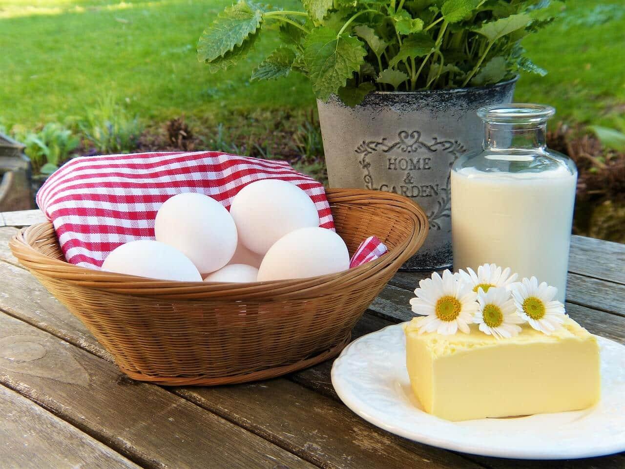 Food with calcium