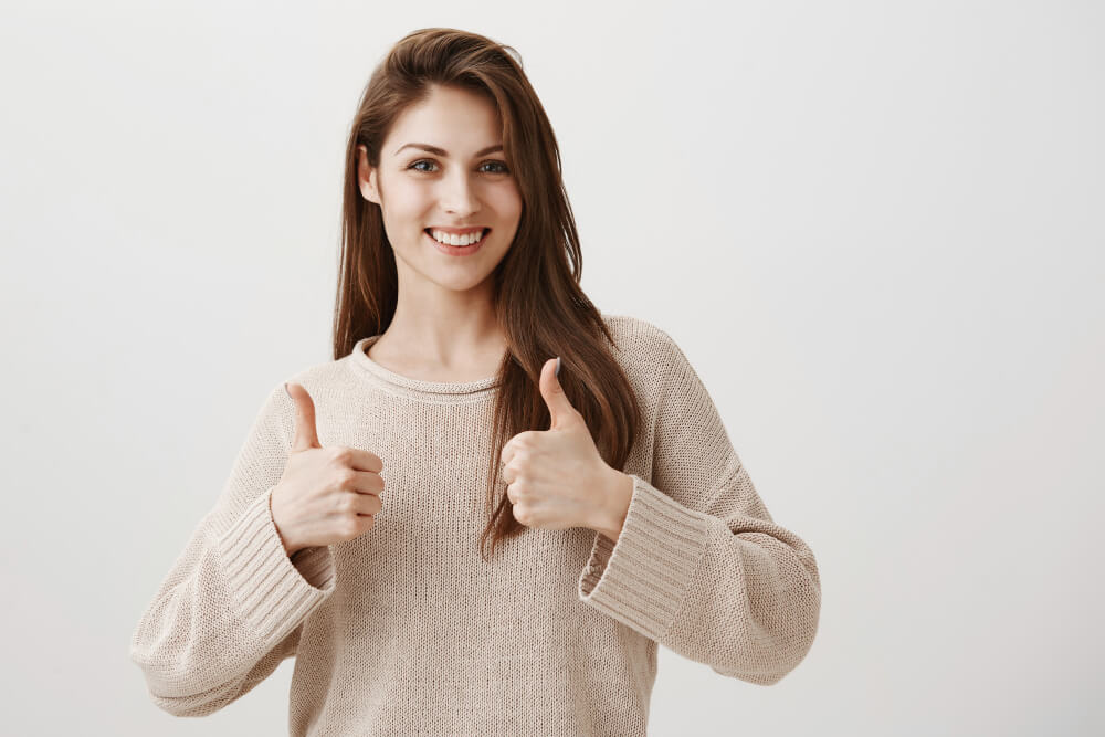 woman with a good immune system