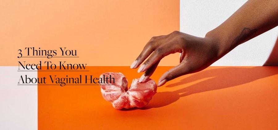 Woman touching an orange